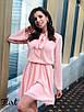 Шифоновое платье в горошек с бантом 36ty2505, фото 4