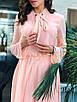 Шифоновое платье в горошек с бантом 36ty2505, фото 5
