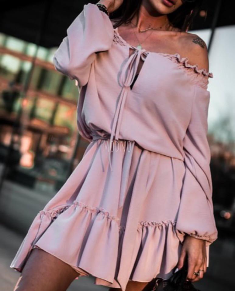 Летнее платье с открытыми плечами 71ty2513