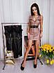 Кожаное платье с молнией спереди без рукава 71ty2520, фото 3