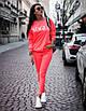 Женский спортивный костюм со спадающим плечом и надписью 71rt591, фото 6