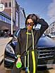Трикотажный женский спортивный костюм с яркими лампасами 71rt598, фото 3