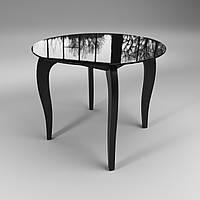 Круглый стол стеклянный Император Круг черный