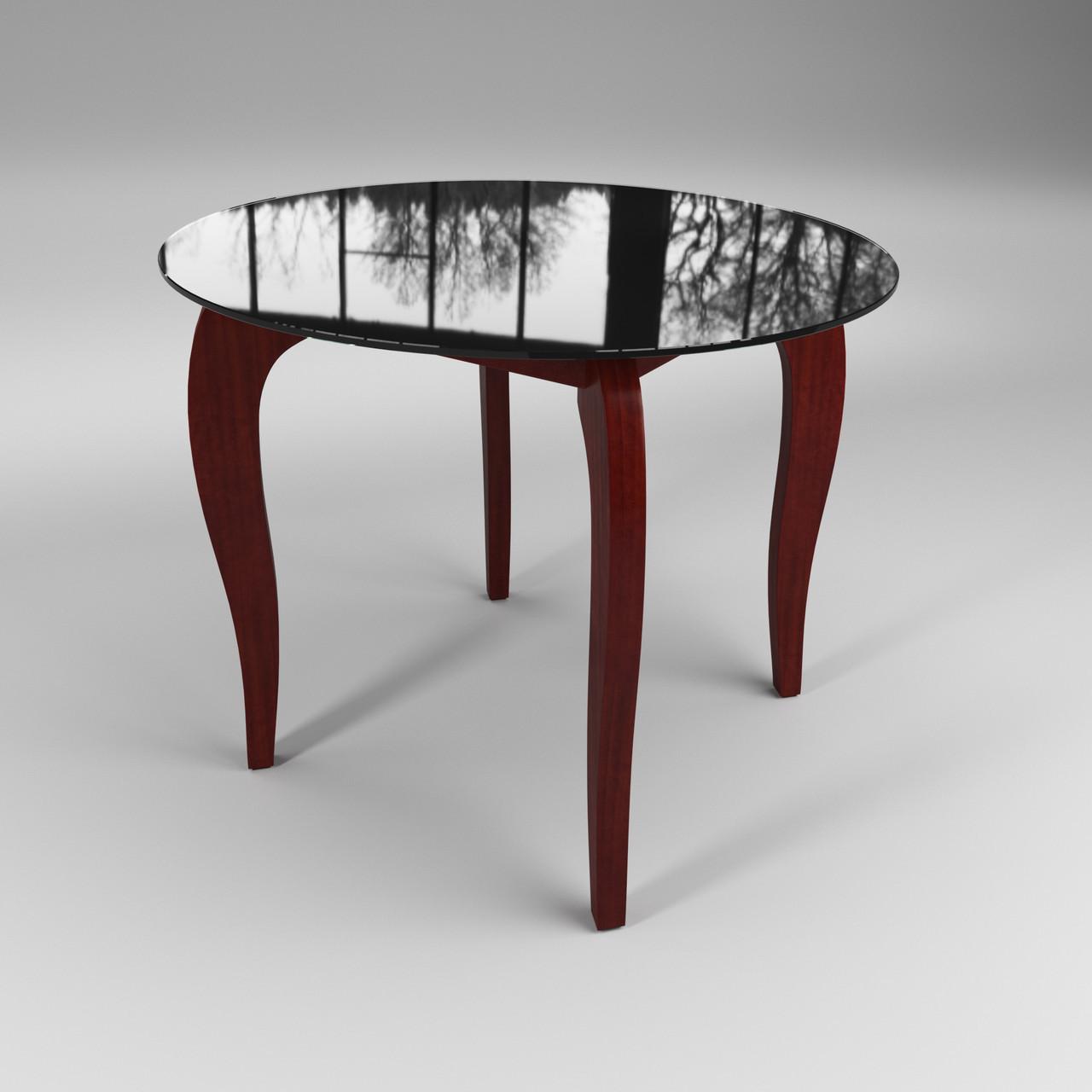 Стол стеклянный Император Круг черно-красный (диаметр - 0,90 м.)