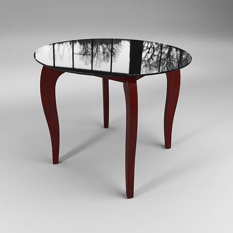 Стол стеклянный Император Круг черно-красный (диаметр - 0,90 м.), фото 2