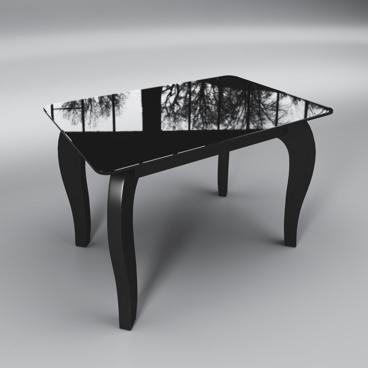 Журнальный стеклянный стол Император мини черный