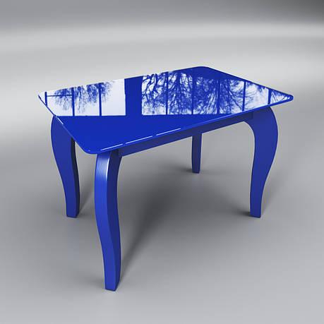 Журнальный стеклянный стол Император мини синий, фото 2