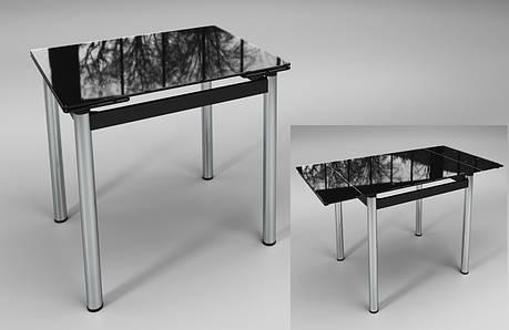 Раскладной стол Ритм черный стеклянный, фото 2