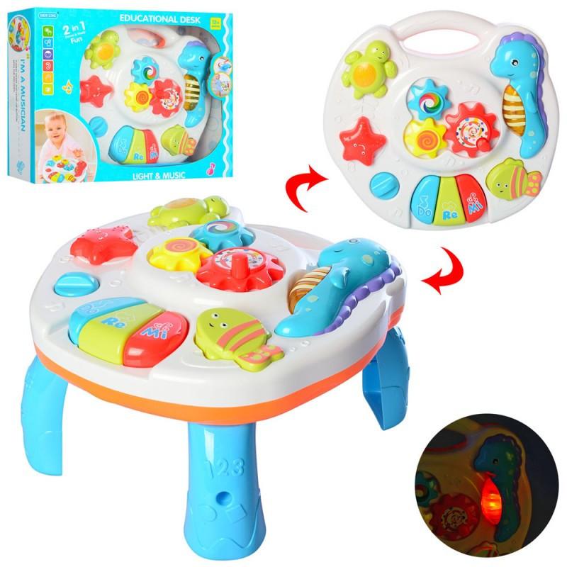 Игровой центр, столик, подвеска на кроватку, музыка, звук, свет, трещотка, 3902