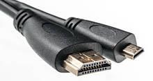 Видео кабель PowerPlant HDMI - micro HDMI, 0.5м, позолоченные коннекторы, 1.3V