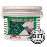"""LITOACRIL LA201(10кг.) - белый дисперсионный клей с нулевым вертикальным сползанием.""""Litokol"""""""