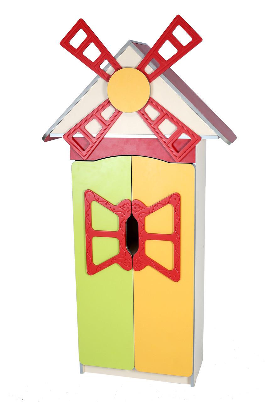 """Стенка детская """"Цветочная поляна"""" №9 """"Мельница"""" с дверью для НУШ, школы, сада"""