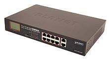 Некерований гігабітний комутатор PoE Planet GSD-1002VHP (8Port 10/100/1000Mbps 802.3 atPoE+2Port 1