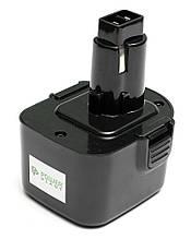 Акумулятор PowerPlant для дамських сумочок та електроінструмент DeWALT GD-DE-12V 12 1.3 Ah NICD(DE9074)