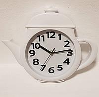 "Настенные часы для кухни ""Чайник"" Маленький Белый (25х31 см) [Пластик] Time"