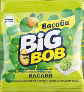 Арахис соленый Big Bob вассаби 30 г х 10 шт в уп. 140 шт в ящике