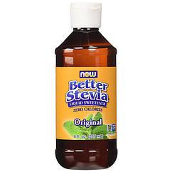 Заменитель питания NOW Better Stevia zero calories 60 ml