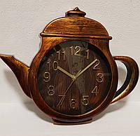"""Настенные часы в кухню """"Чайник"""" Маленький Бронза (25х31 см) [Пластик] Time"""