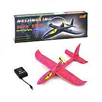 Метальний планер рожевий з очима, літак пенолет з мотором, C34389