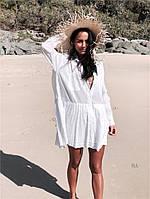 Пляжная туника белая 42 - 46, фото 1