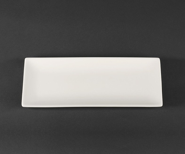 Блюдо прямоугольное фарфоровое 305 мм Helios Extra white (A7046)