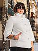Элегантная белая куртка с брошью и рукавом 3/4 рр 54-66, фото 6