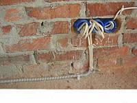 Проводка электрики (кирпич)