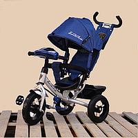 Детский трехколесный велосипед Ламборджини с фарой надувные колёса, фото 1