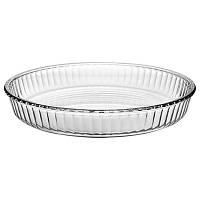 Противень стеклянный круглый для пиццы Borcam 260мм