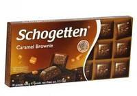 Шоколад молочный Schogetten Caramel Brownie, с карамелью, 100 g