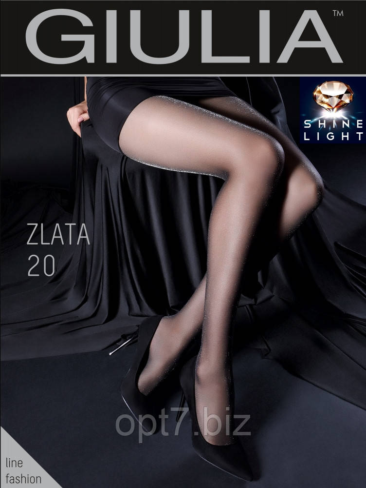"""Колготки женские ТМ """"GIULIA"""" Zlata 20 (20 Den, размер 2,3,4) (от 3 шт)"""