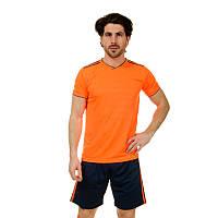 Футбольная форма  (PL, р-р S-3XL-165-190см, оранжевый-темно-синий), фото 1
