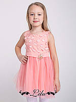 Стильное платье с пышной юбкой и бантиком сзади.104-122