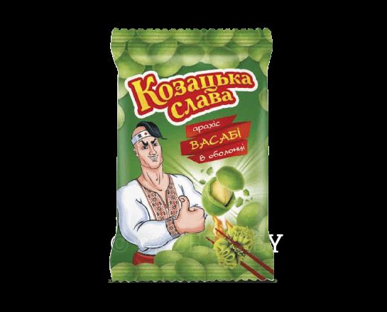 Арахис соленый Козацька Слава вассаби 55 г х 90 шт в ящике