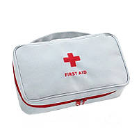 ✅ Домашняя аптечка-органайзер для хранения лекарств и таблеток First Aid Pouch Large Серый