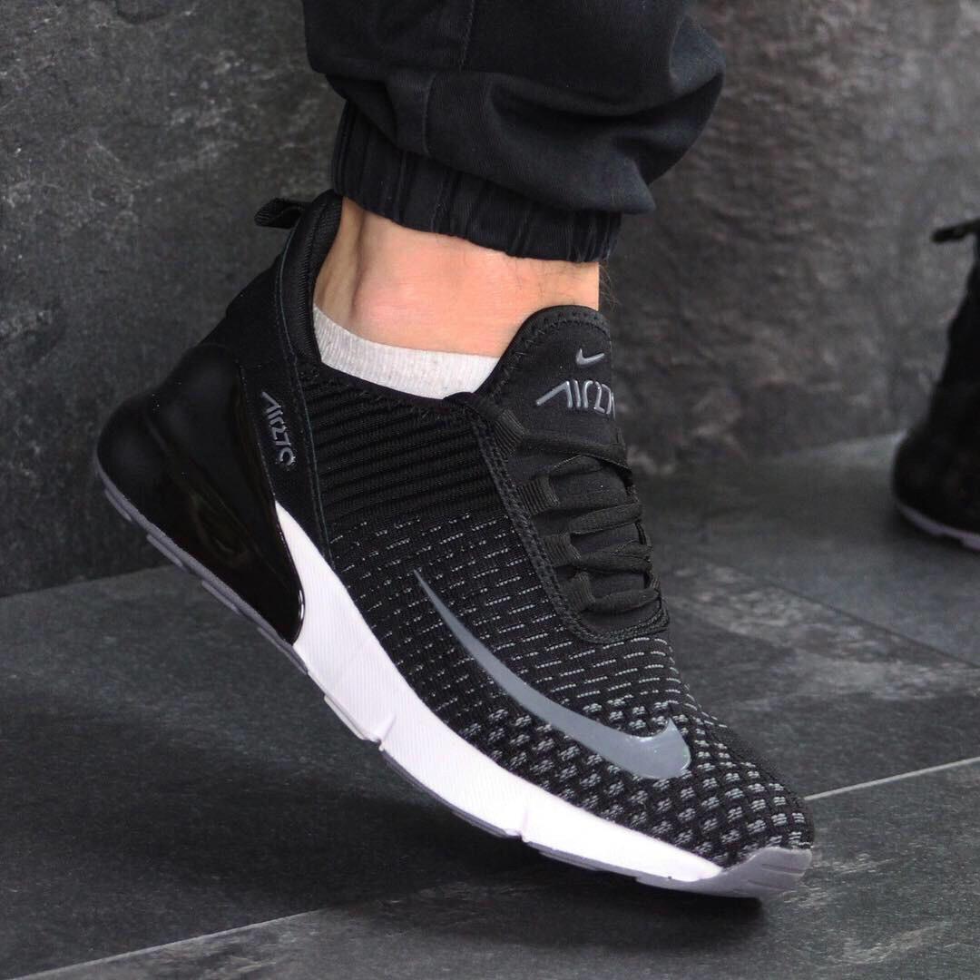 343d100b Новые кроссовки Nike 7592 демисезонные чёрные с белым купить распродажа -  Интернет-магазин