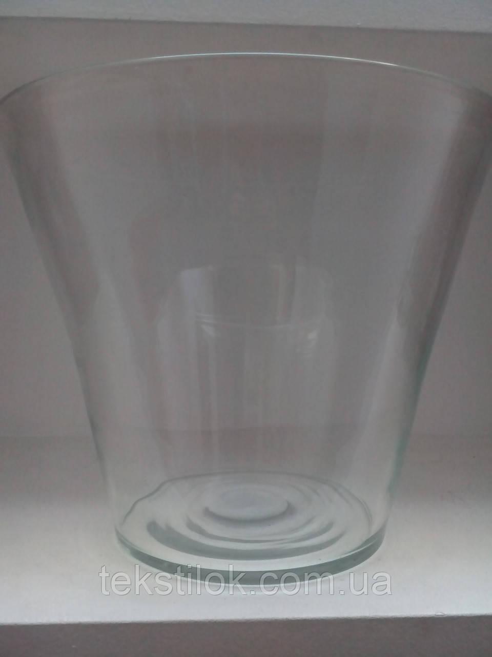 Ваза прозрачное стекло Польша