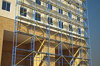 Рамні риштування (ліса) будівельні, будівельні риштування (ліса) для фасадних робіт. Оренда риштування Київ.