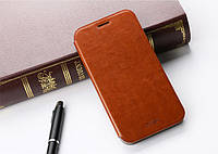 Кожаный чехол книжка MOFI для Lenovo K3 Note коричневый, фото 1