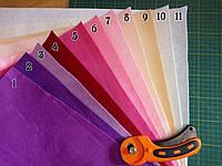Фетр листовой для рукоделия, размер А4, 1мм