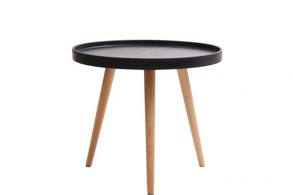 Кофейный столик Kashtan Z-288 TONI черный на буковых ножках, D500