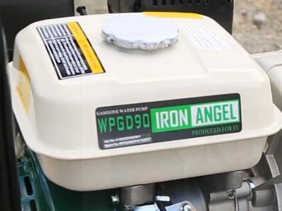 Вместительный топливный бак мотопомпы Iron Angel WPGD 90
