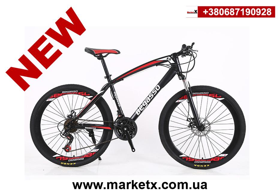 Новинка 2019! Горный велосипед 26 дюймов, 17 рама, 30 скоростей, цвет черный с красным.