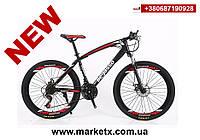 Новинка 2019! Горный велосипед 26 дюймов, 17 рама, 30 скоростей, цвет черный с красным., фото 1