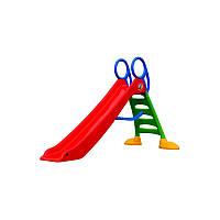 Детская пластиковая горка с лестницей Mochtoys длиной 200 см (2метра). Два цвета.