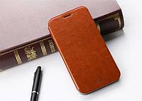 Кожаный чехол книжка MOFI для Lenovo A7000 коричневый, фото 1