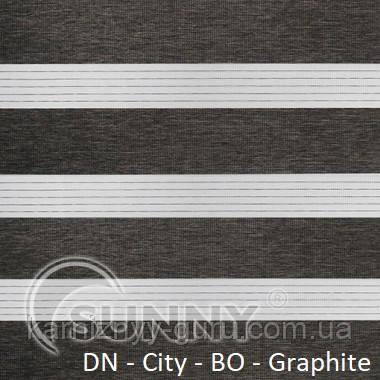 Рулонные шторы для окон Sunny в системе День Ночь, ткань  DN-City BO