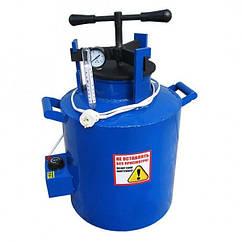 Автоклав синий электрический маленький с винтом. (  5 литровых/12 поллитровых)