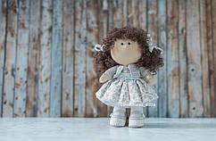 """Интерьерная кукла """"Серенький цветочек"""""""