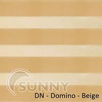 Рулонные шторы для окон Sunny в системе День Ночь, ткань  DN-Domino